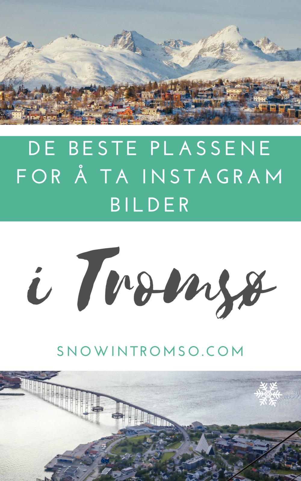 På vei til Tromsø? @snowintromso forteller deg hvor man kan få det perfekte Instagram-bildet!