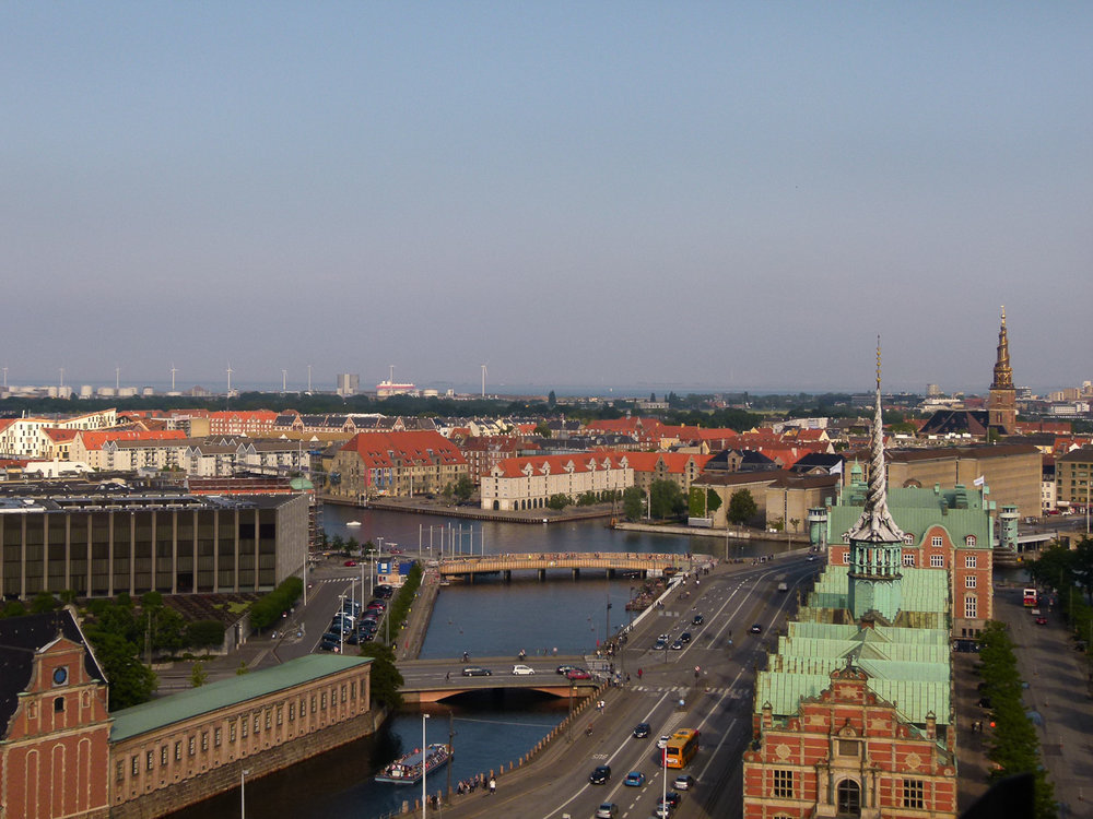 view from christiansborg palace tower copenhagen