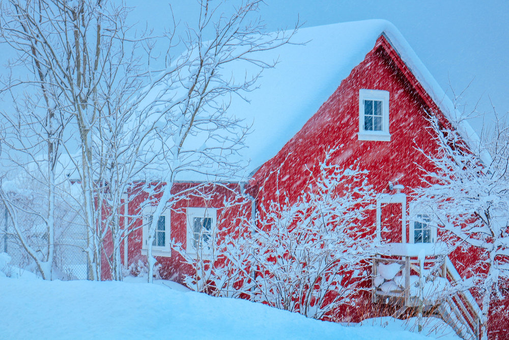 tromso snowstorm winter