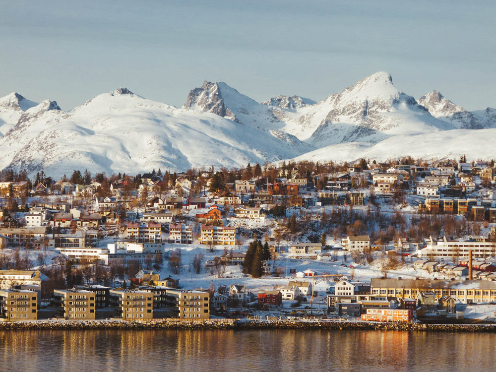 View on Tromsø island from the mainland