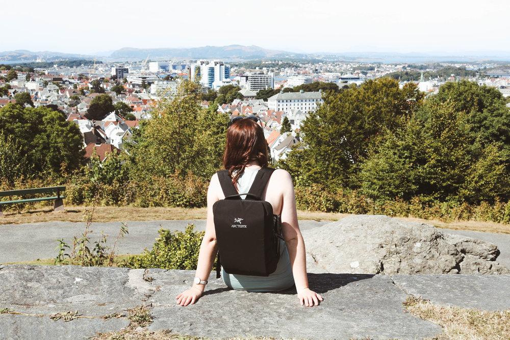 Overlooking Stavanger at Vålandstårnet