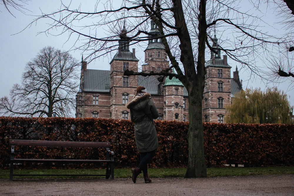 rosenborg castle on a rainy day