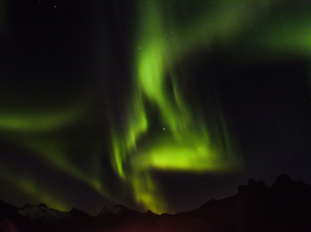 northern lights over tromso norway