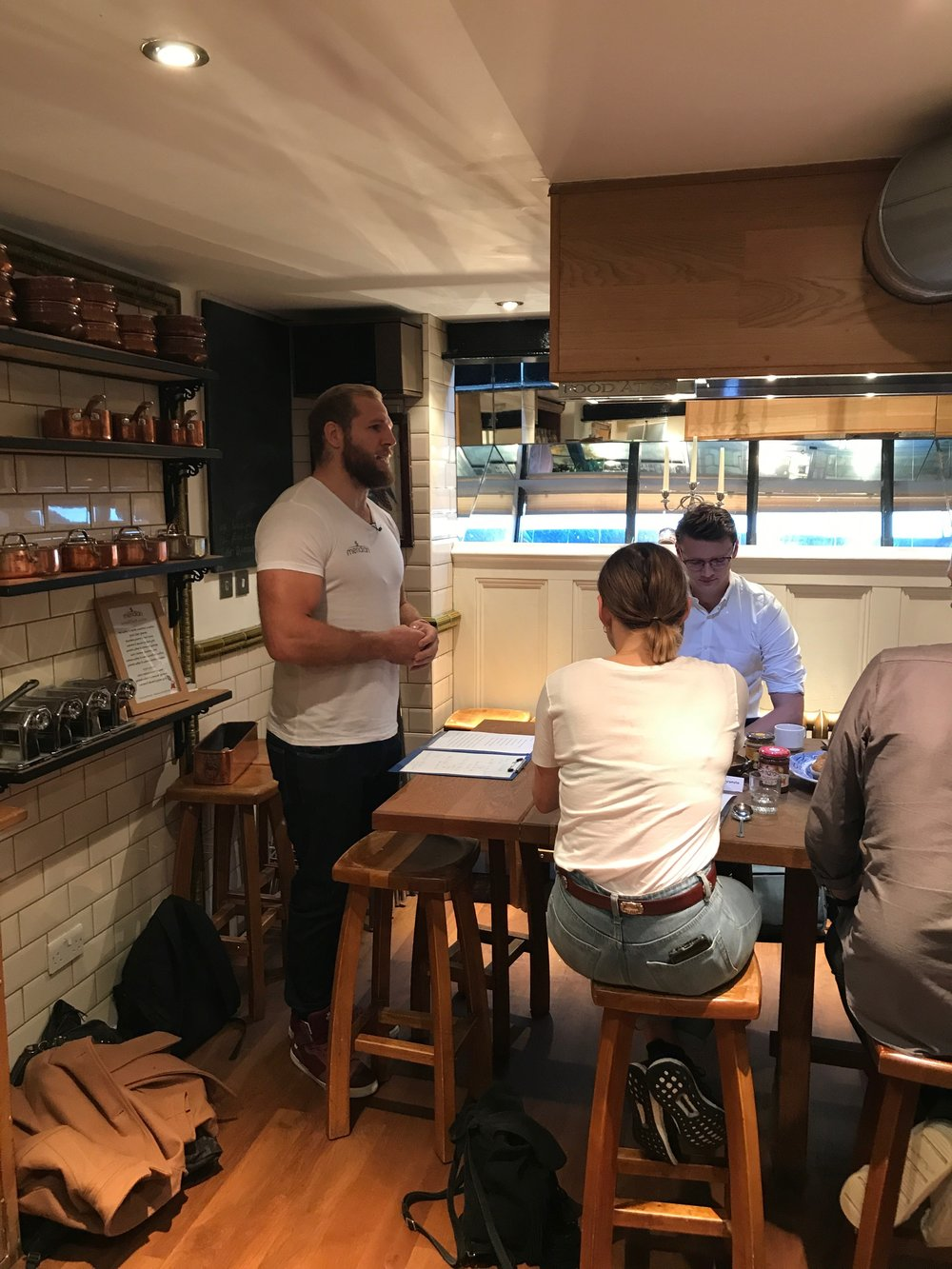 James Haskell talks nutrition with TPK and Meridian Foods
