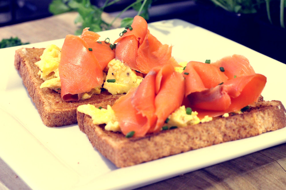 Salmon & Eggs on Toast