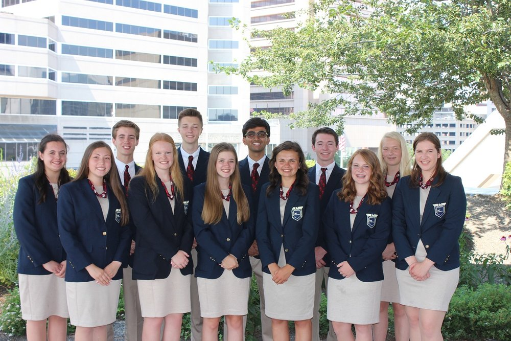 2018-2019 Wisconsin FBLA State Leadership Team