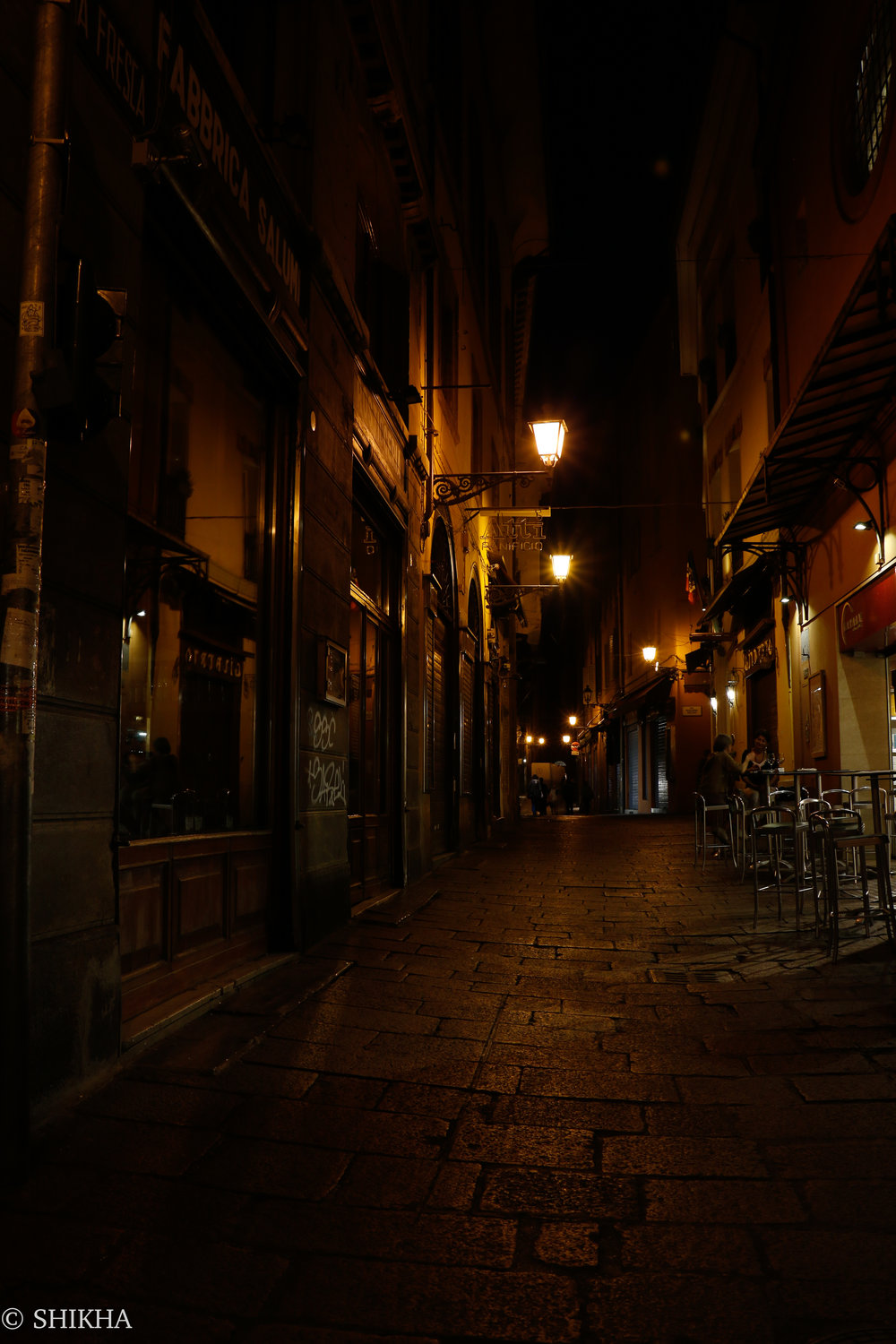 Streets of Bologna at 3am