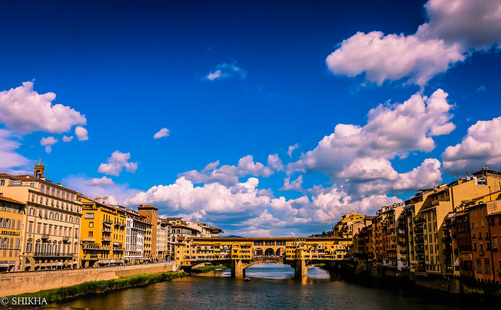 "The famous ""Old Bridge"" or Ponte Vecchio"