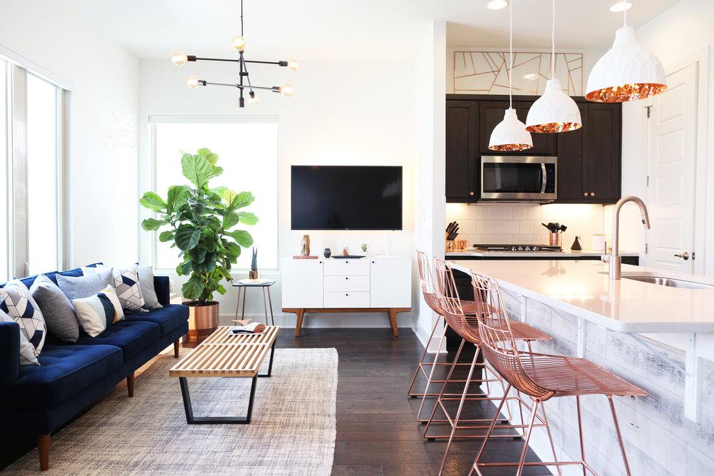 02— Masculine Mid-Century Modern Row Home
