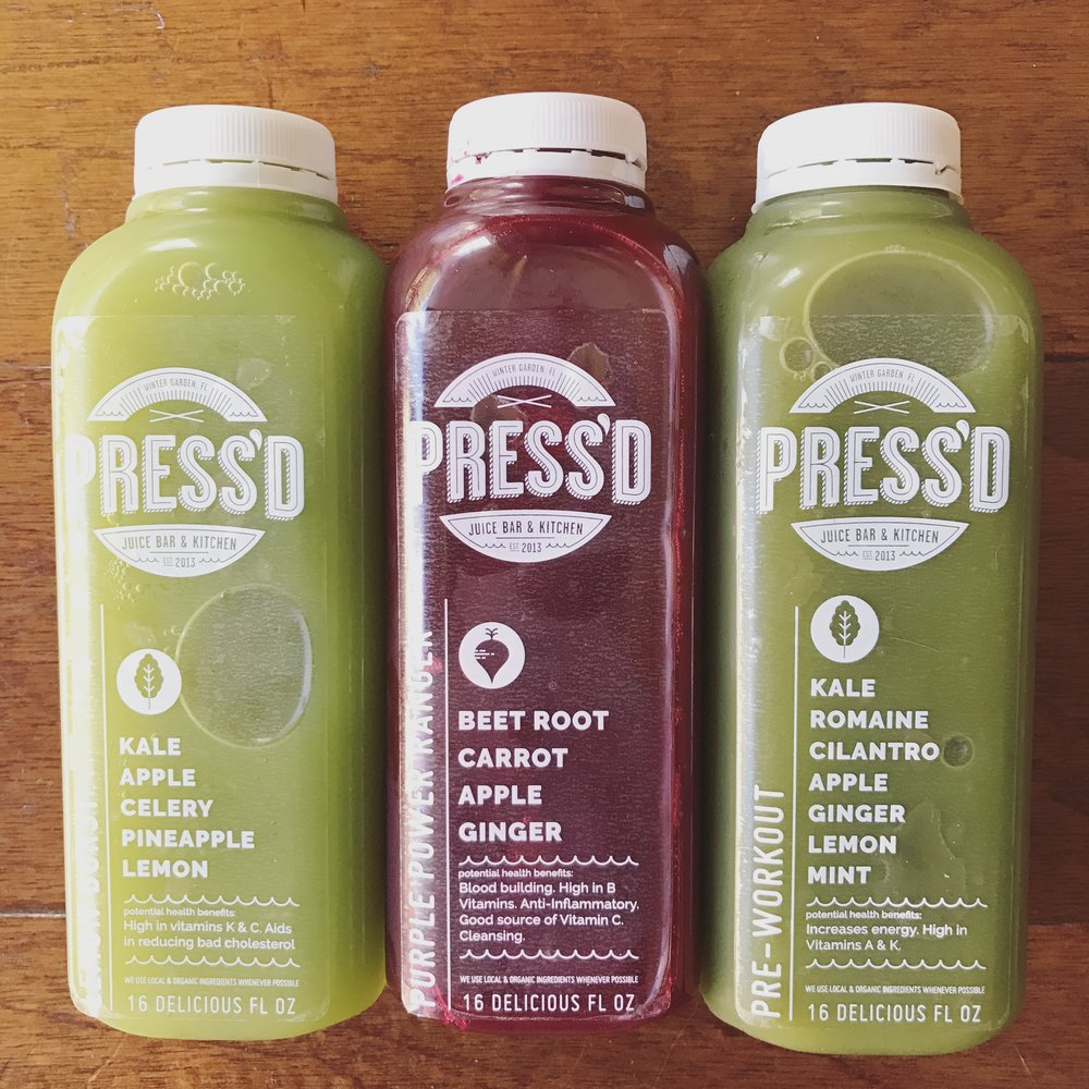 Press'd Juice Bar & Kitchen (LOVE this place)