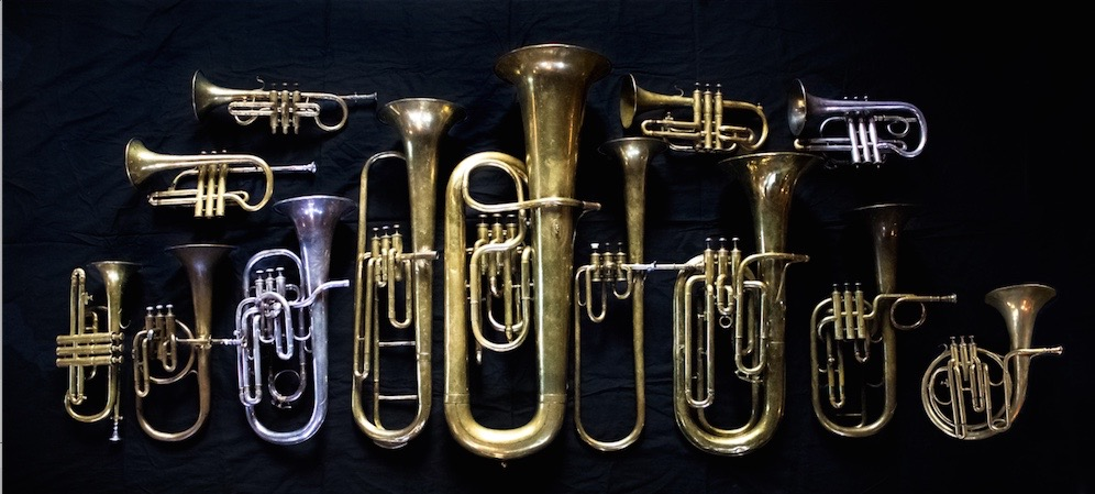 "The collection of 19th century brass instruments used by The Prince Regent's Band in their ""The Celebrated Distin Family"" recording"