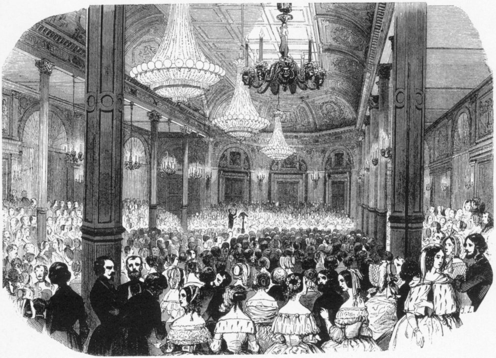 Salle Herz, the location of the Adolphe Sax concert attended by the Distin Family, pictured in 1843