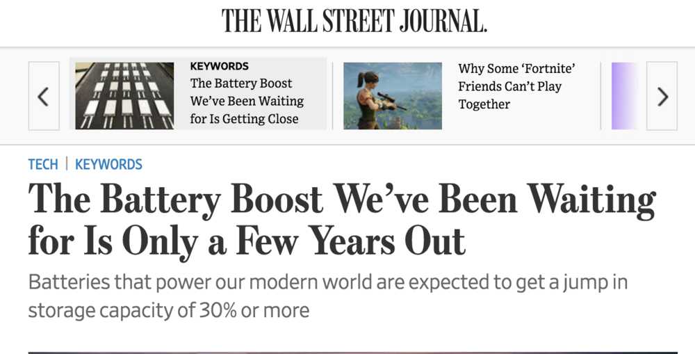 Wall Street Journal  headline , March 17, 2018.
