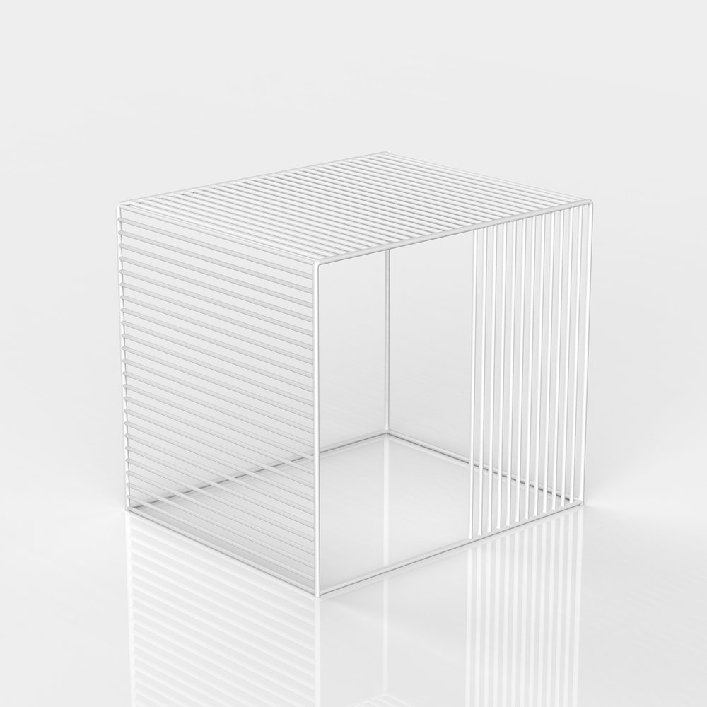 Wire Side Table_White