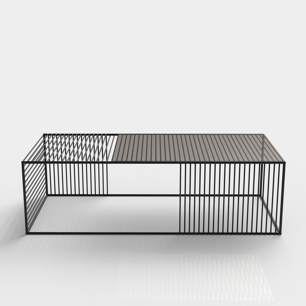 Wire Coffee Table   Small Rectangle