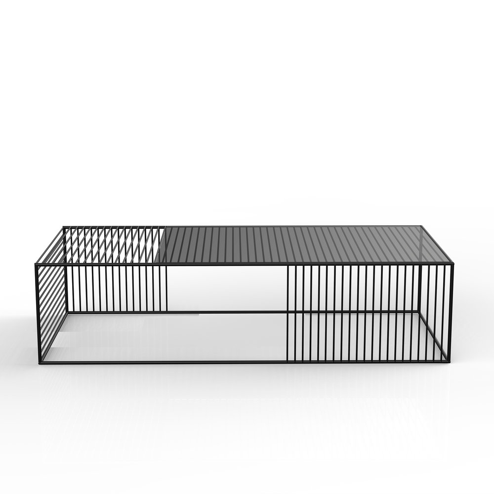 Wire coffee table large rectangle