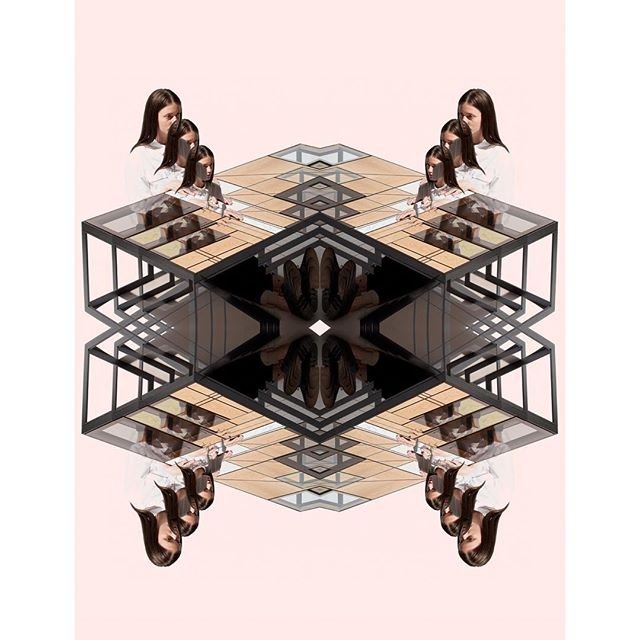 Hialeah Table Kaleidoscope from the archive. Photo @charlieschuck collage @rylandquillen