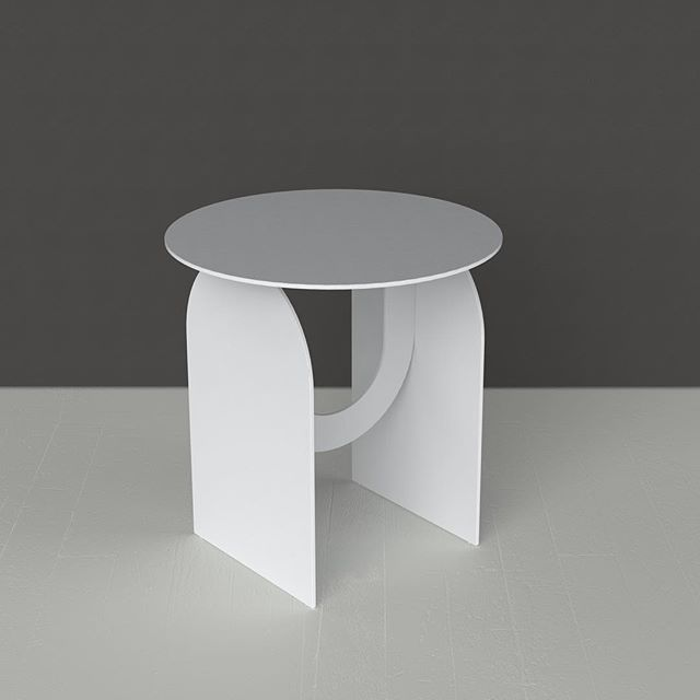 Apex Side Table in white. Brian McAllister for I&M 2016. @brianmcallister