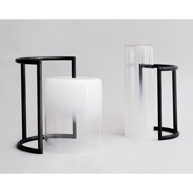 JAMIE IACOLI x JOHN HOGAN collaboration of metal and glass tabletop sculptures inspired by Ellsworth Kelly paintings and subtle life changes are on view tonight from 7-9p at @samujistudio as a part of @_sightunseen_ #suoffsite / Samuji - 12 Prince Street New York, NY 10012 / The collection will be on display May 17 - 20th.