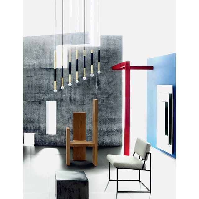 Acis Light in this Constructivist inspired editorial in this month's @wallpapermag. Acis is a modular system that can be configured endlessly. Swipe to see full page spread.