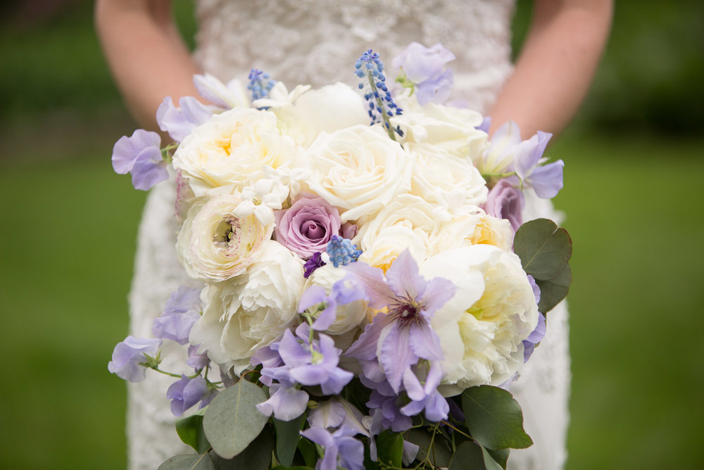 Bridal bouquet with lavender
