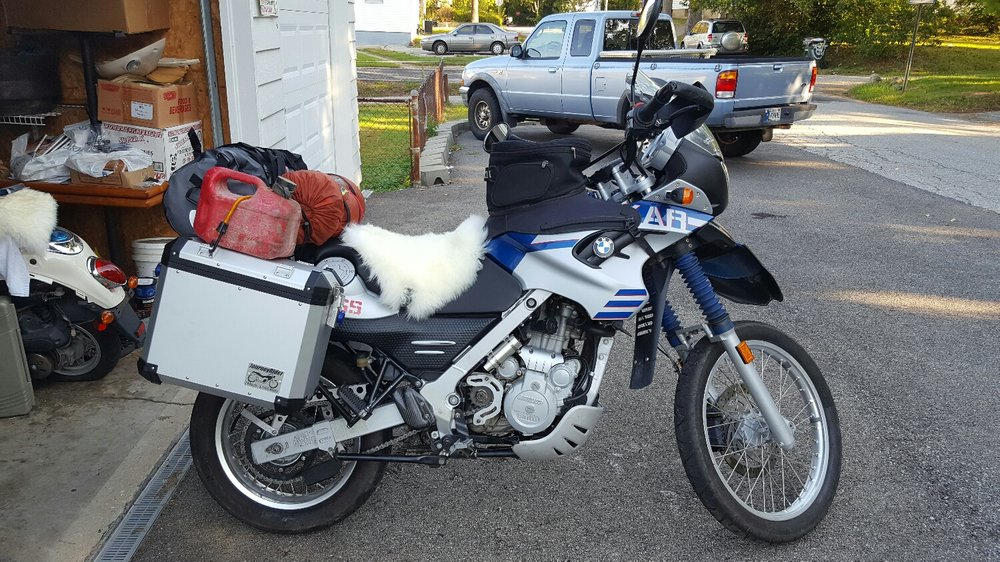 My soon to be home away from home. BMW f650gs Dakar