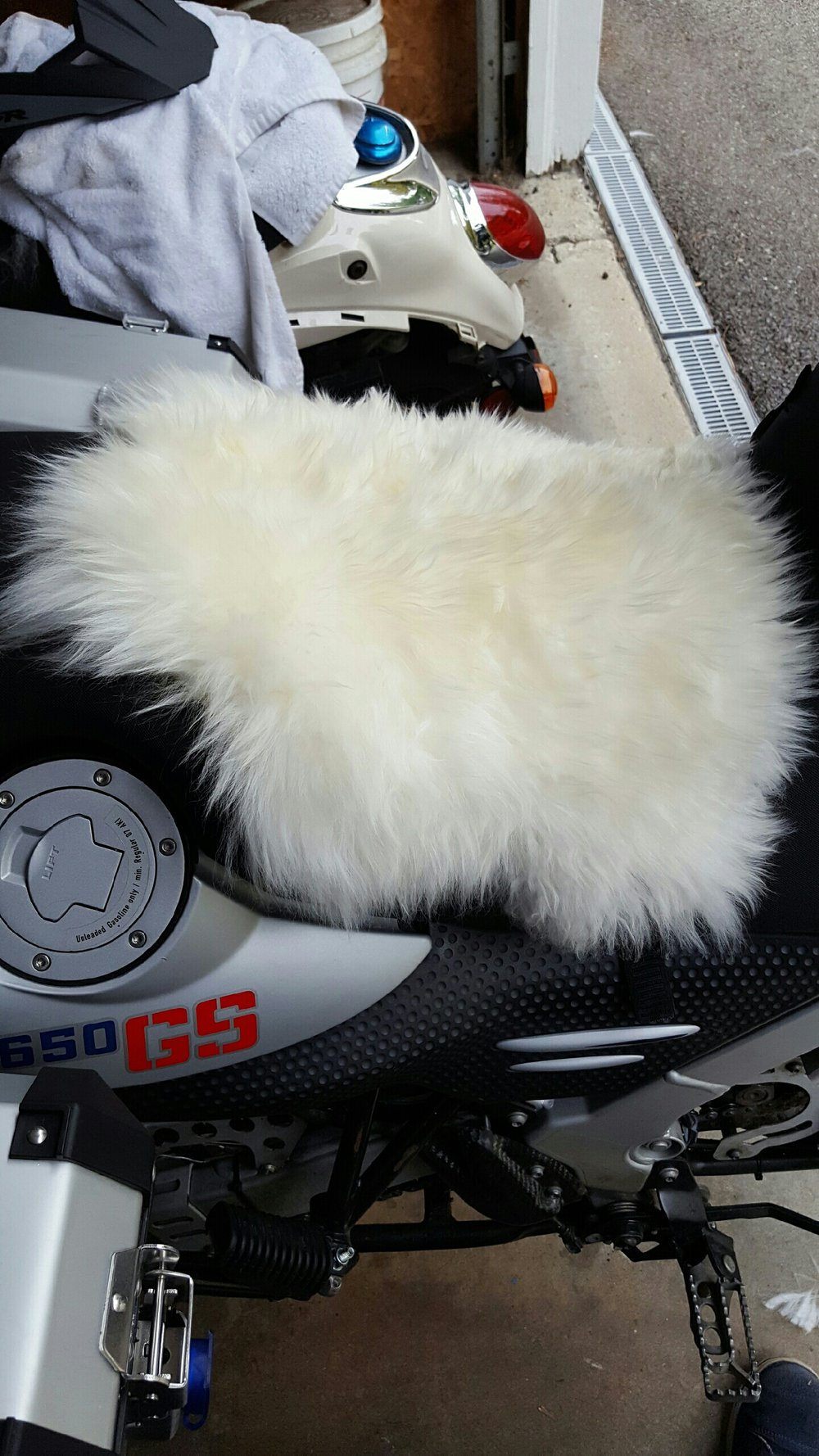 Baaa - Wooly seat cover.