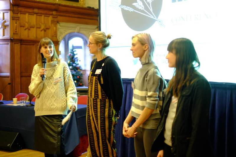 Abby Rose, Carolin, Abi Aspen and Annie all speaking about #OurField at the Oxford Real Farming Conference, earlier this month.