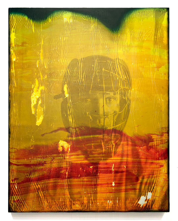 Untitled . 2014 acrylic and photo-transfer on canvas