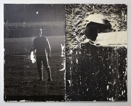 Iowa Apollo . 2013 photo-transfer on canvas (two panels)