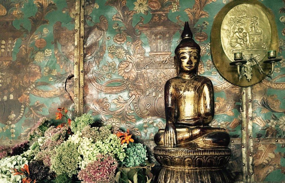 Budda against wallpaper.jpg