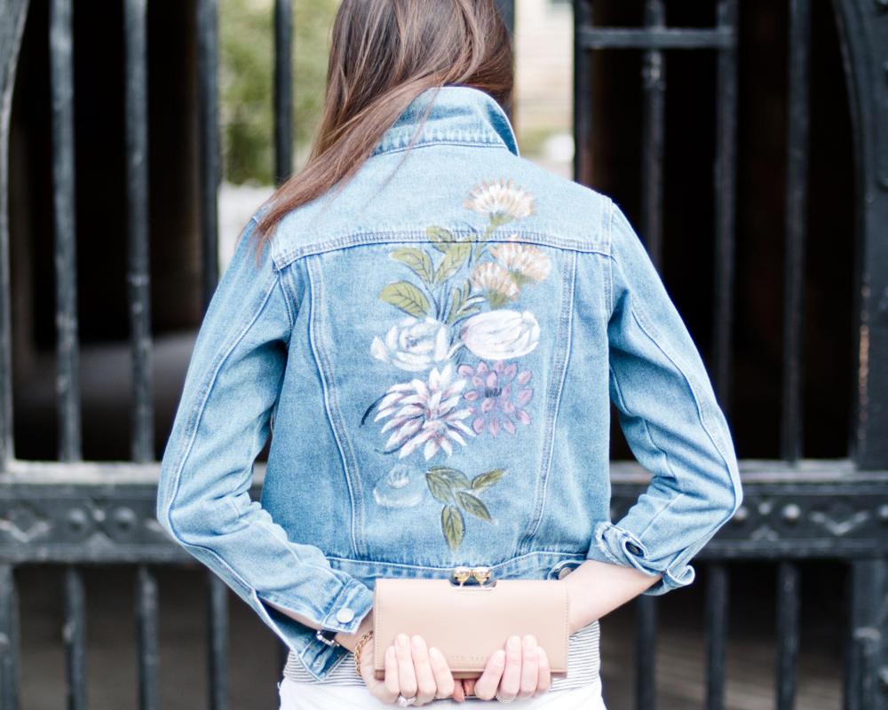 ASOS Glamorous Petite Painted Denim Jacket