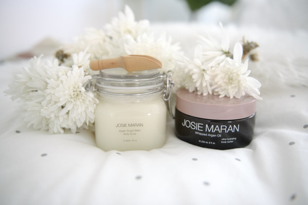 Josie Maran Argan Sugar Scrub and Whipped Argan Oil