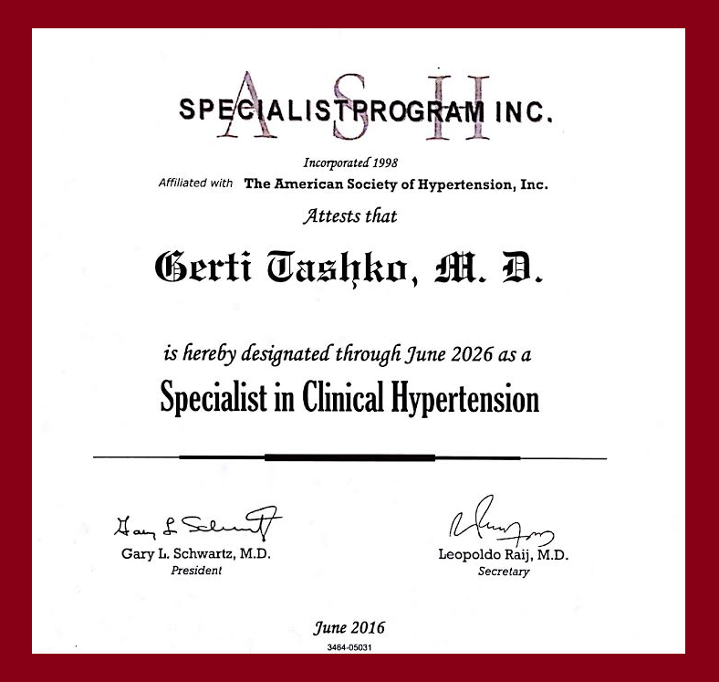 Hypertension Specialist