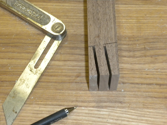 Tenon cut with the tablesaw blade at an angle