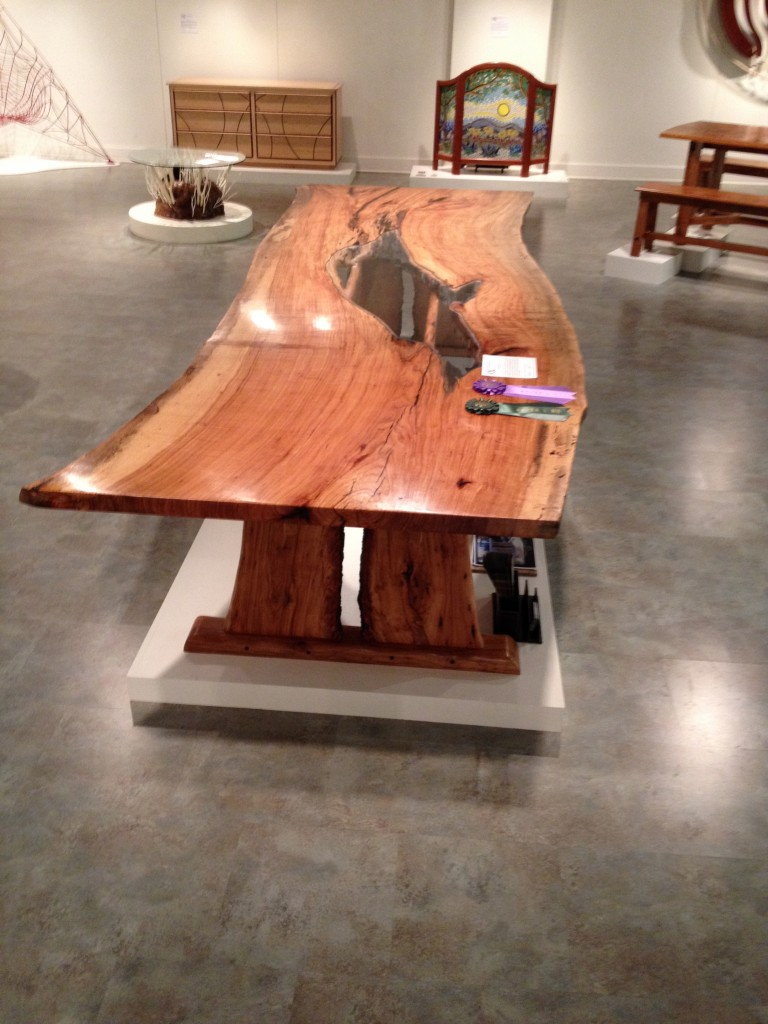 """The Brazos Beauty"" Table, by Brandon Berdoll"