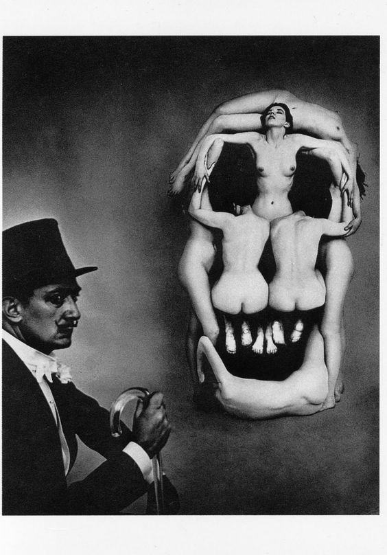 Philippe Halsman, Skull and Dali, 1951