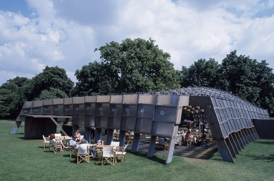 Image 7 of 34   Serpentine Gallery Pavilion 2005 by Alvaro Siza and Eduardo Souto de Moura with Cecil Balmond- Arup