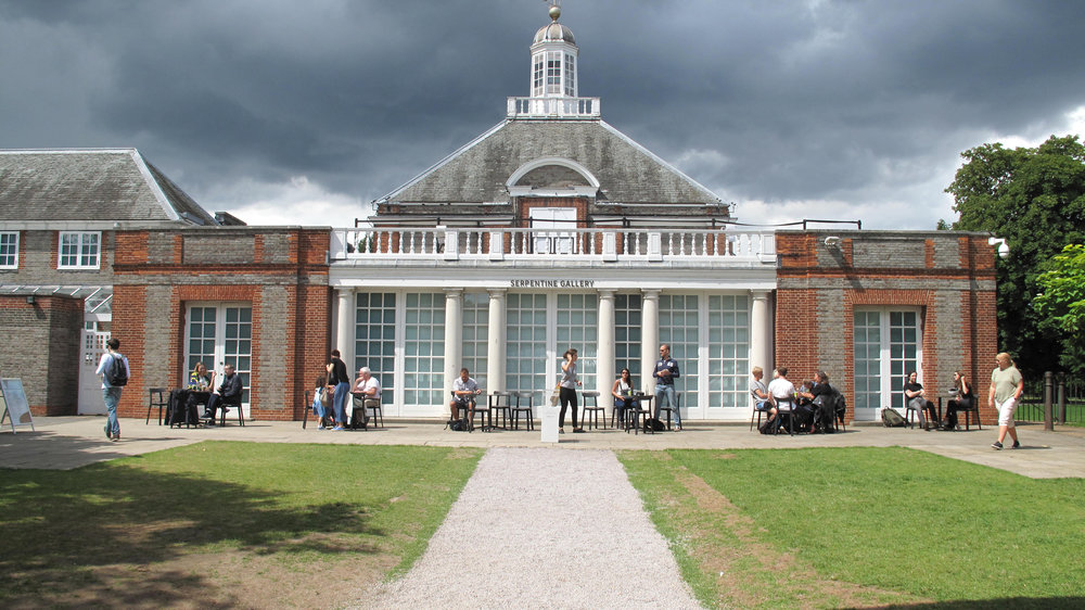 View of the Serpentine Gallery from the pavilion