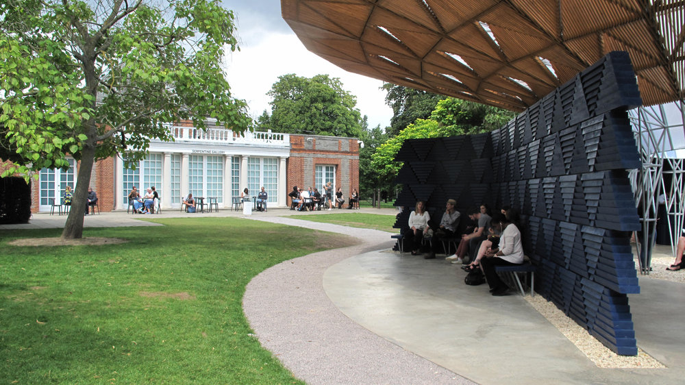 Pavilion in relationship to the Gallery