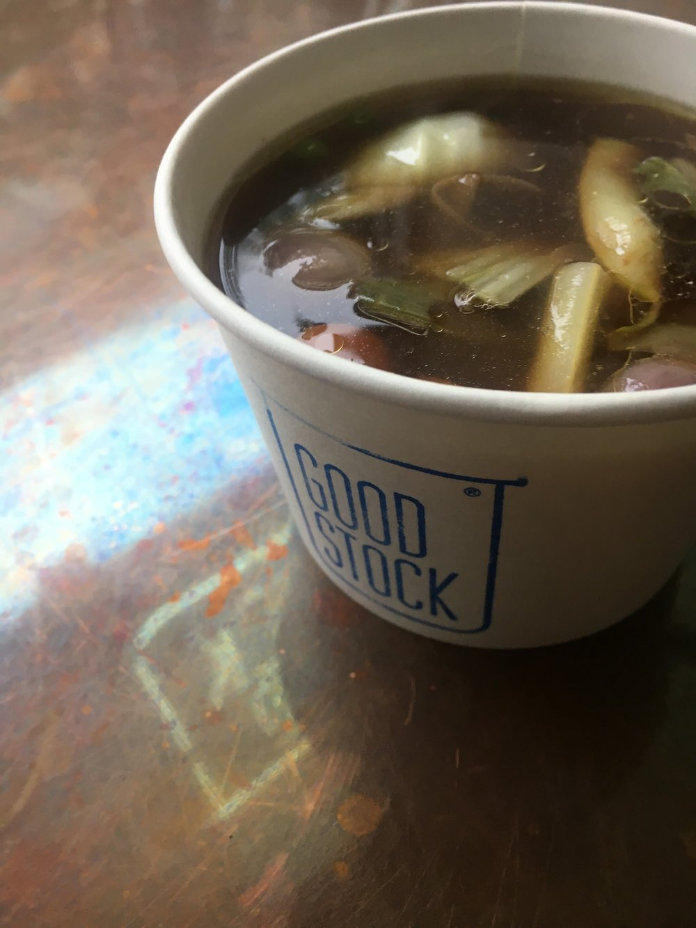 Brisket Soup for Breakfast