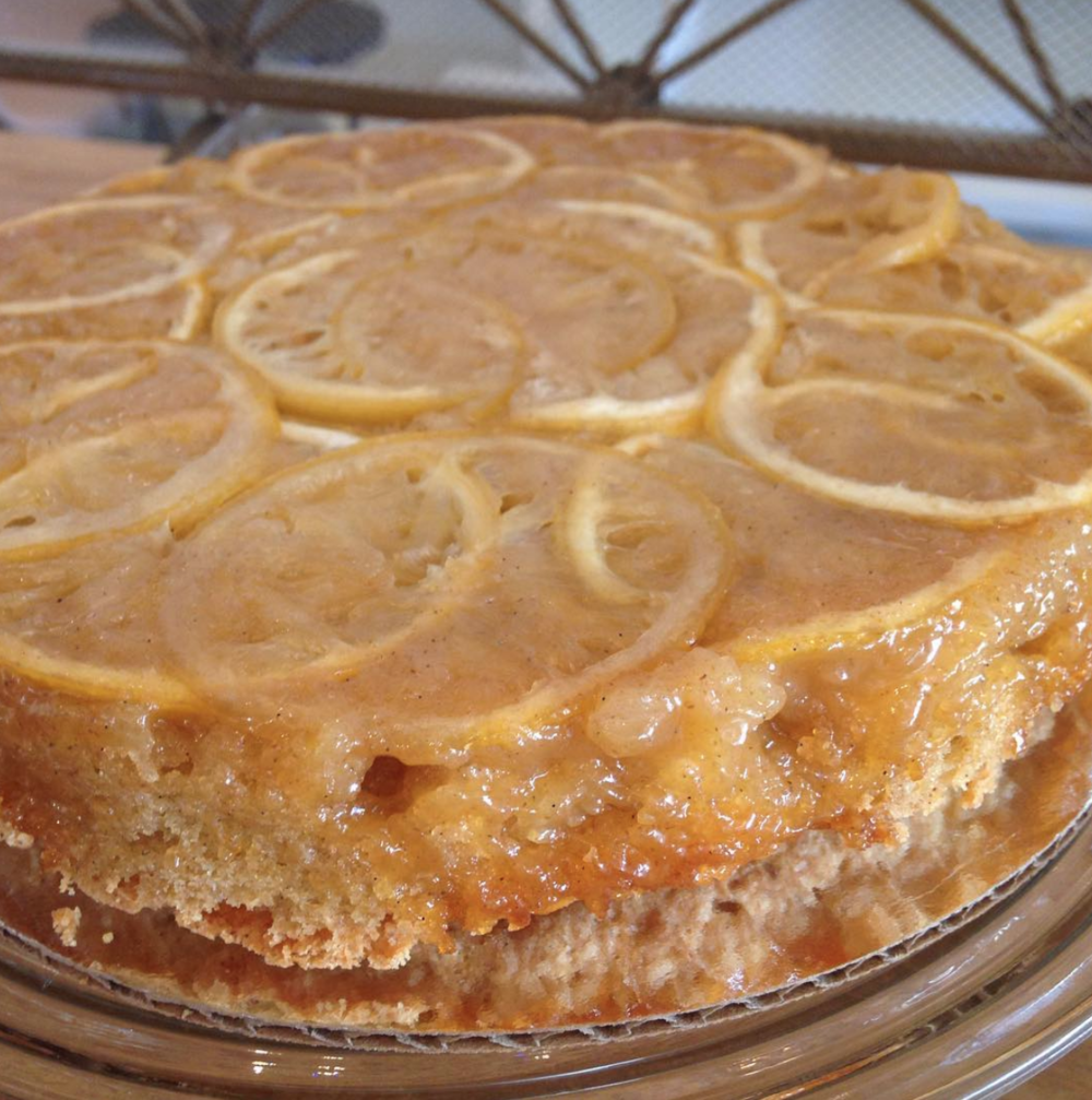 Lemon cardamom cake