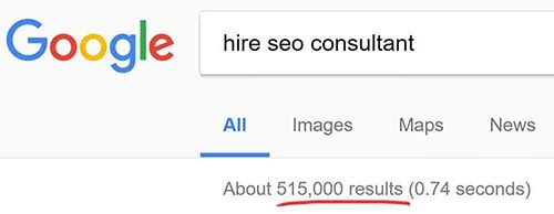 hire seo consultant search phrase results