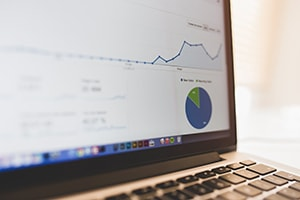 google analytics showing quick increase in website traffic