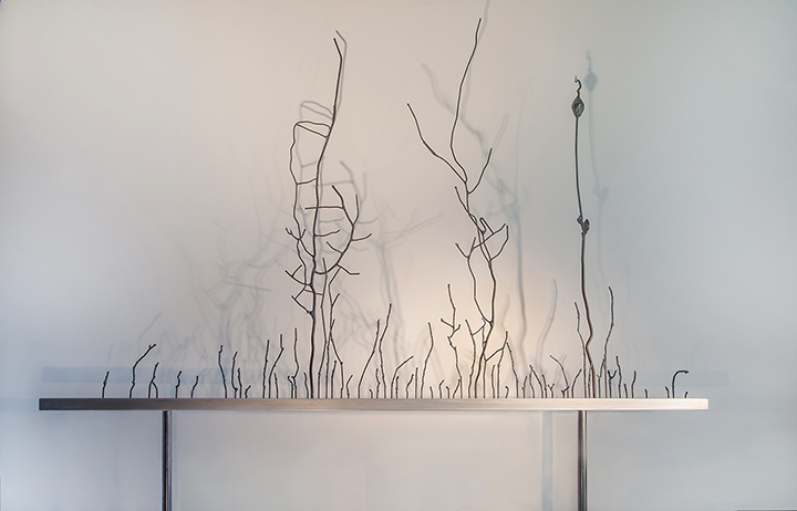Welded steel, aluminum 54 x 9 x 68(H) inches