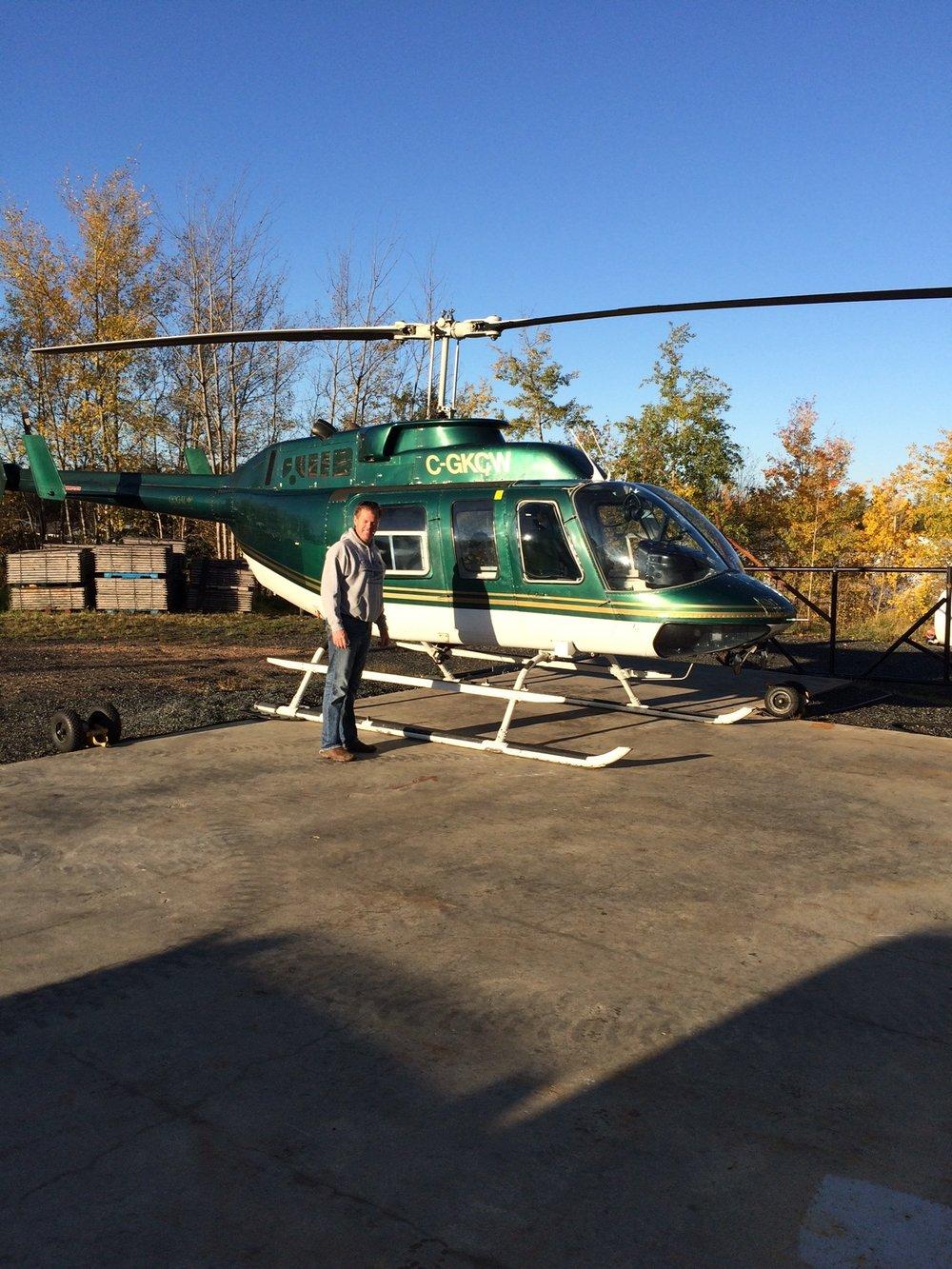 Gogal Air Services Long Ranger, Snow Lake, MB.
