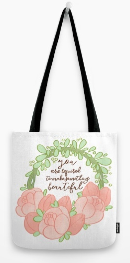 Click to purchase totes, t-shirts and travel mugs on Society 6