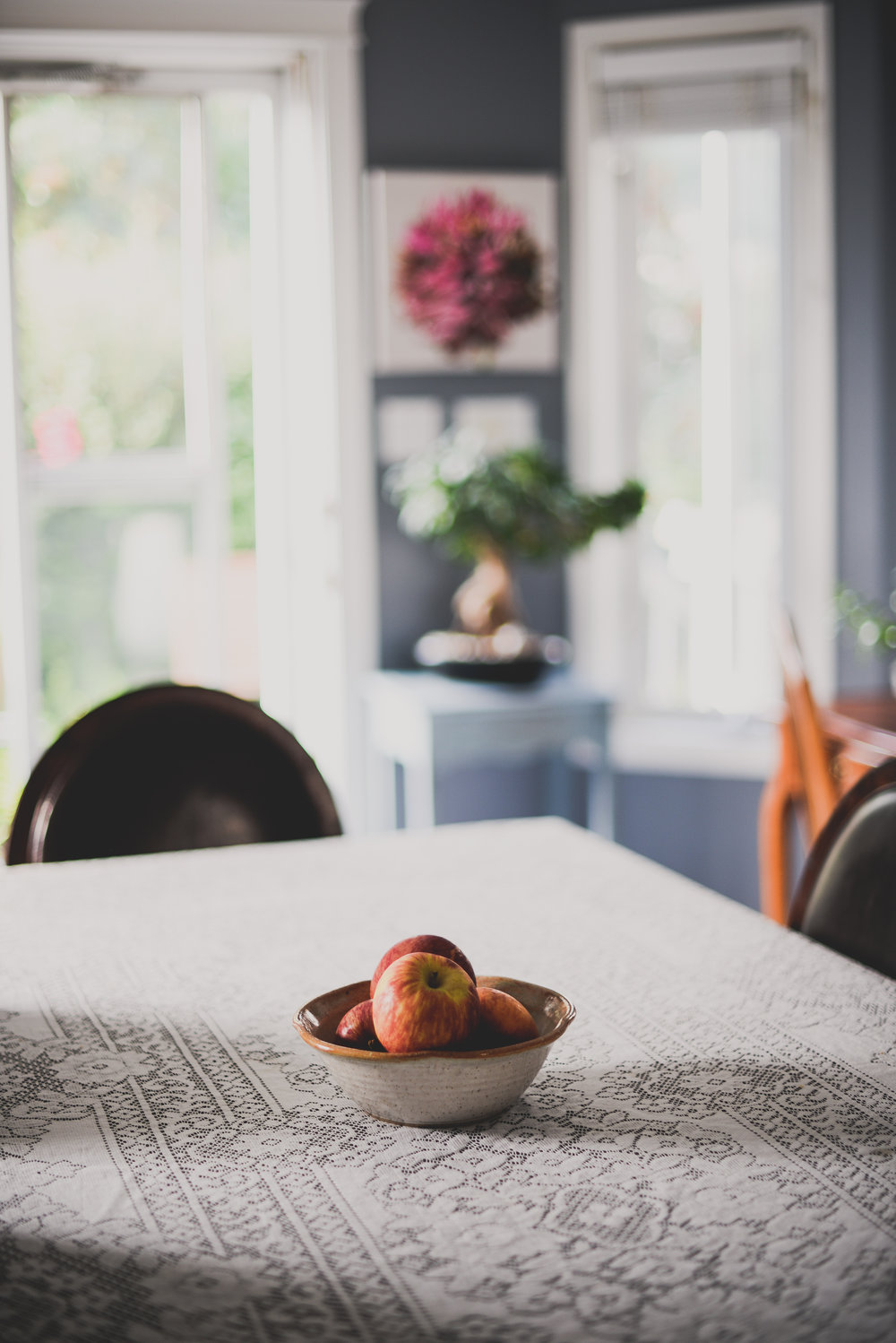 apples on a table
