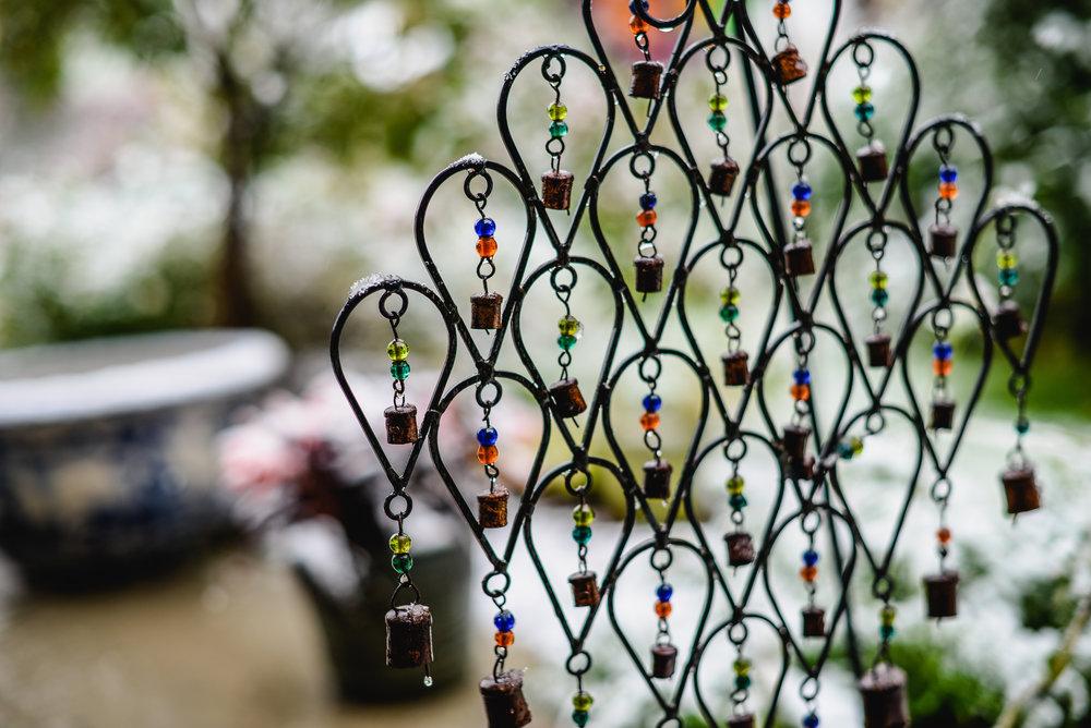 snow and Tibetan bells