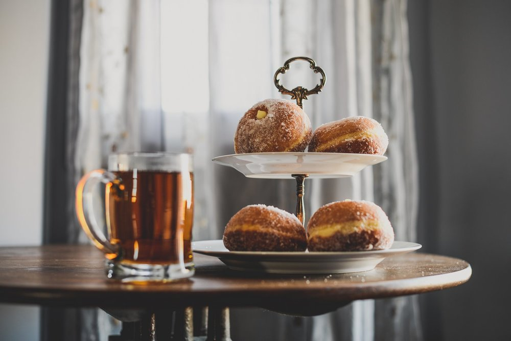 tea and doughnuts